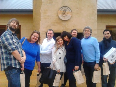 Group enjoying a Southern Highlands Wine Tour