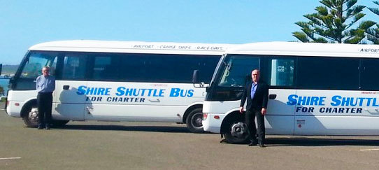 Fleet of Shire Shuttle Buses