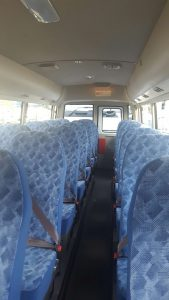 Inside our brand new Rosa bus