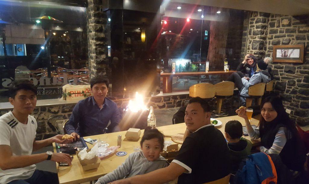 Dinner at Jindabyne