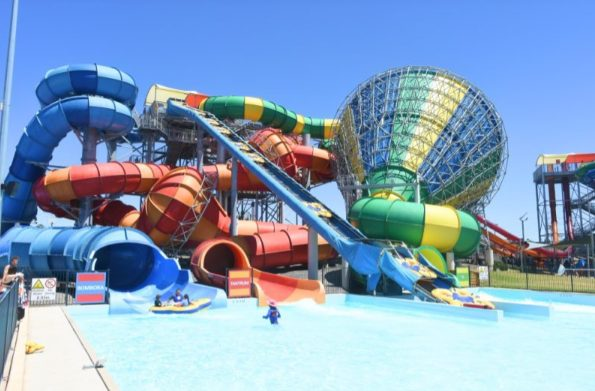 water slide at raging waters sydney