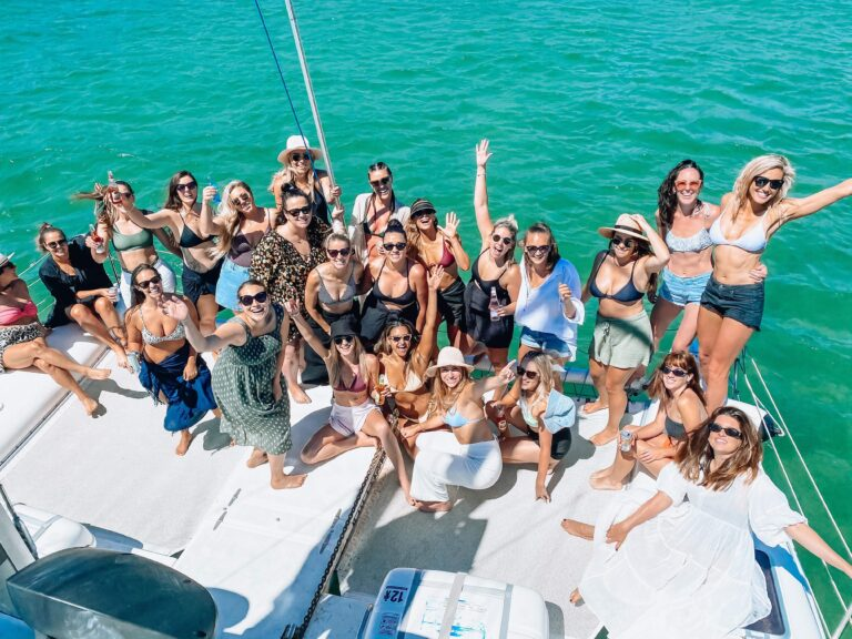private catamaran group party